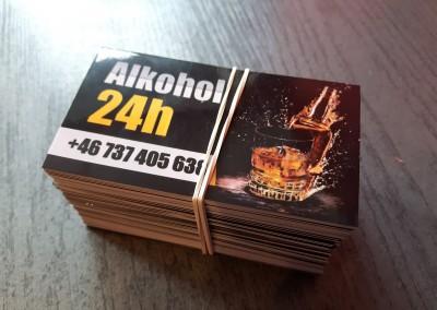 wizytówki alkohol