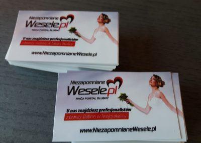 wizytówka weselna