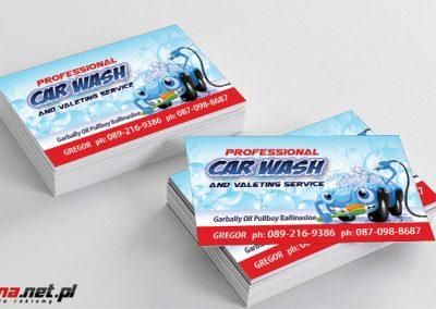 wizytówki car wash