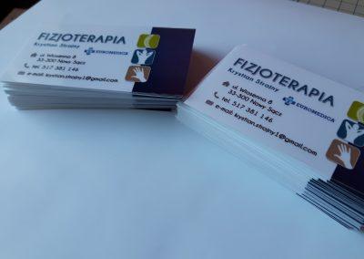 wizytówki dla fizoterapeuty