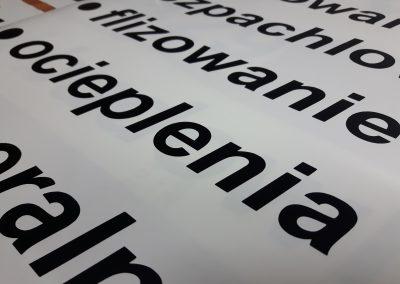 reklamy litery napisy