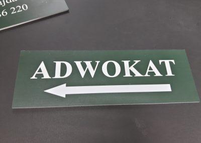 adwokat tabliczka