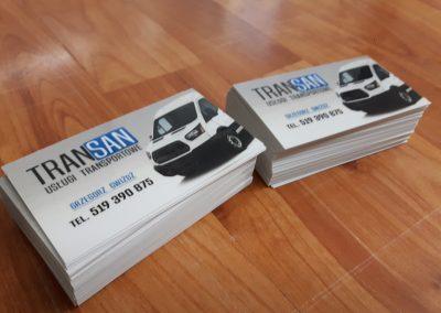 wizytówka transportowa
