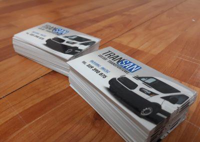 wizytówki transport
