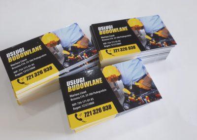 usługi budowlane wizytówki
