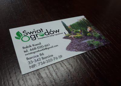 usługi ogrodnicze wizytówki