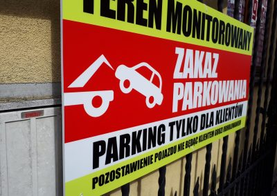 tabliczki zakaz parkowania