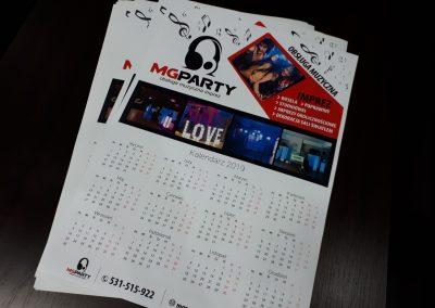 mg party kalendarze