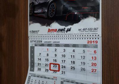 kalendarze bma
