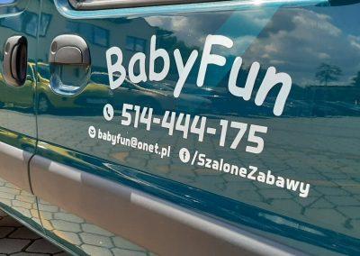 naklejki na samochód babyfun
