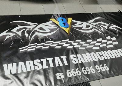 warsztat samochodowy baner