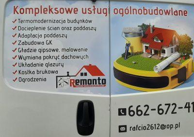 usługi remontowe reklama na aucie