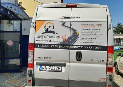 transport oklejanie auta