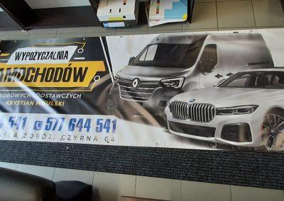 wypożyczalnia samochodów baner