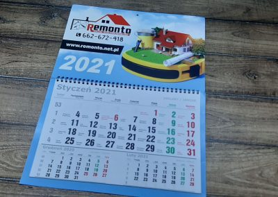 usługi budowlane kalendarz