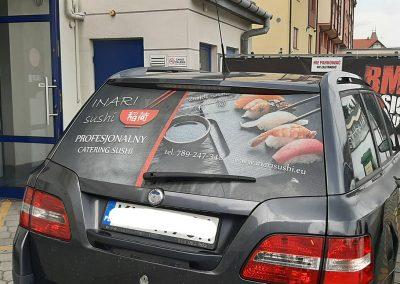 inari sushi oklejanie samochodów